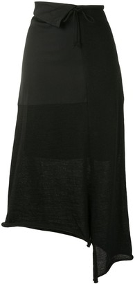 Y's Drawstring Waist Ribbed Skirt