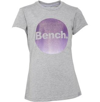 Bench Junior Girls Alessia T-Shirt Light Grey