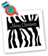 3dRose LLC qs_26128_4 Patricia Sanders Creations - Merry Christmas Zebra Print - Quilt Squares