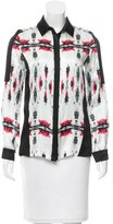 ICB Abstract Print Silk Top w/ Tags