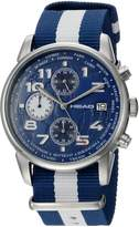 Head Men's 'Open' Quartz Stainless Steel and Nylon Casual Watch, Color: (Model: HE-005-02)