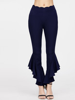 Shein Scallop Waist Asymmetric Hem Flared Pants