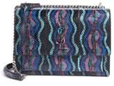 Saint Laurent Medium Monogram Sunset Genuine Snakeskin Crossbody Bag
