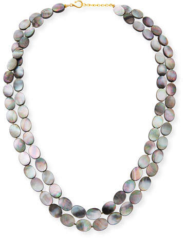 Dina Mackney Black Mother-of-Pearl Double-Strand Necklace
