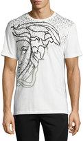 Versace Medusa Logo Print T-Shirt, White