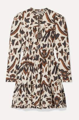 Ulla Johnson Ismaya Tiered Printed Cotton-poplin Mini Dress - Brown