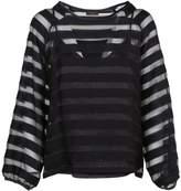 Peserico Striped Sheer Top