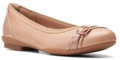Clarks Collection Women's Sara Tulip Ballet Flat Shoes Women's Shoes