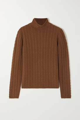 Theory Cable-knit Cashmere Sweater - Brown
