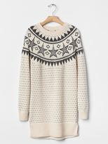 Gap Intarsia star sweater dress