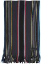Paul Smith College Striped Merino Wool Scarf