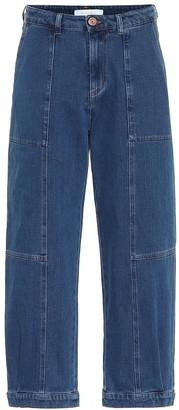 See by Chloe High-rise stretch-denim jeans