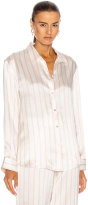 ASCENO The London PJ Top in Blush Stripe | FWRD