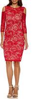 Bisou Bisou Short Sleeve Lace Bodycon Dress