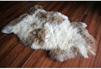 "Byrnes Animal Print Handmade 2'2"" x 3'2"" Sheepskin Beige/Brown Indoor / Outdoor Area Rug Millwood Pines"