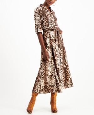 INC International Concepts Inc Animal-Print Shirtdress, Created for Macy's