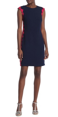 Trina Turk Whim Crochet Lace Trim Cap Sleeve Dress