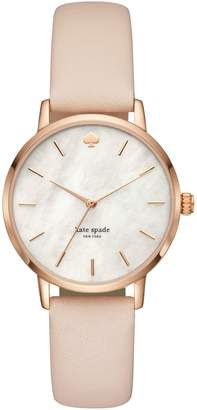 Kate Spade Metro Vachetta Leather Hybrid Watch