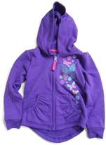 Hanes Girls' Dream Floral Full-Zip Hoodie-XS-Butterfly/Purple