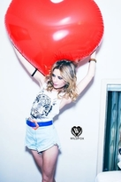 Wildfox Couture Burning Bright Tiger Cut-Off Tank in Clean White