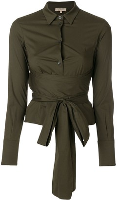 Romeo Gigli Pre-Owned Belted Waist Shirt