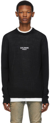 Balmain Black Logo Sweater