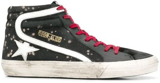 Golden Goose Bleached Effect High-Top Sneakers