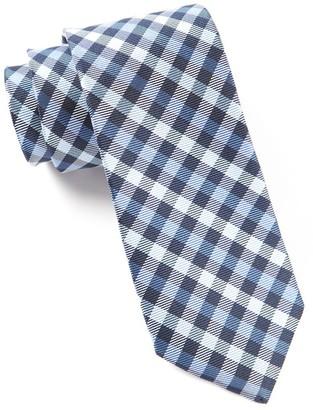 Tie Bar Prepster Plaid Blues Tie