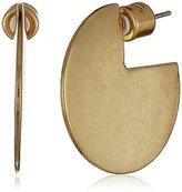 "Kenneth Cole New York Highlines"" Geometric Flat Hoop Earrings"