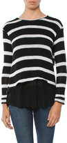 Generation Love Molly Stripes Double Layer Sweater