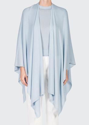Agnona Solid Cashmere-Blend Knit Cape