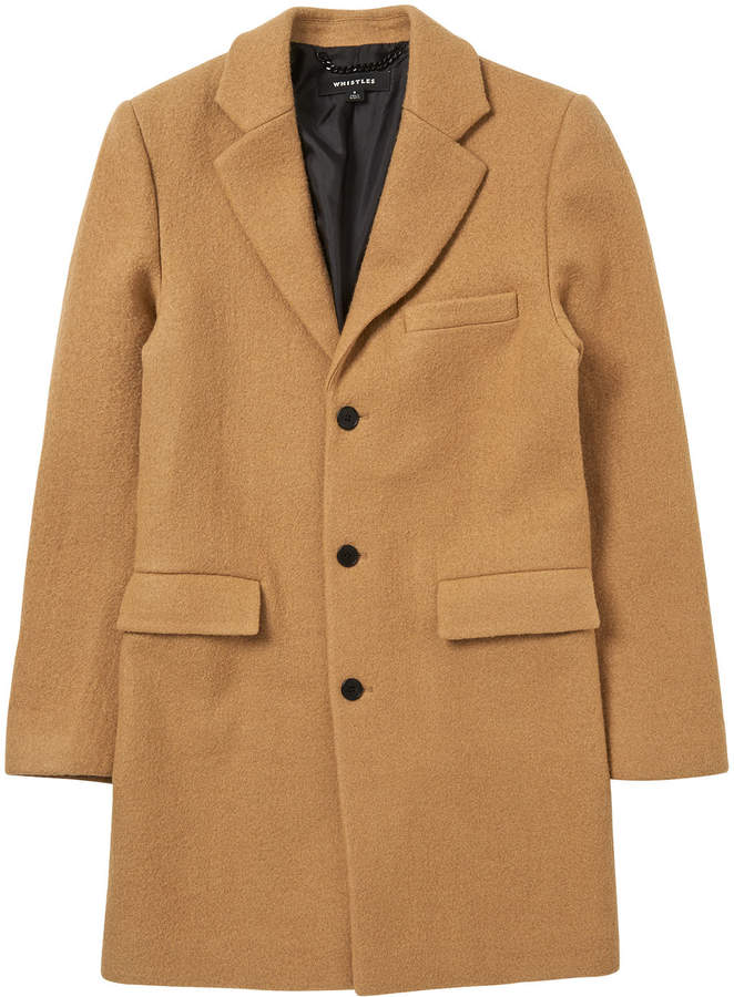 Whistles Textured Wool Overcoat