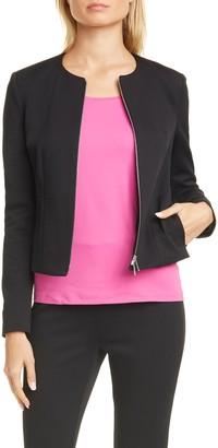 BOSS Jaxine Textured Zip Up Jacket