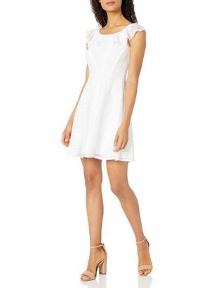 Sandra Darren Women's 1 Pc Sleefveless Lace Burnout Fit & Flare Dress
