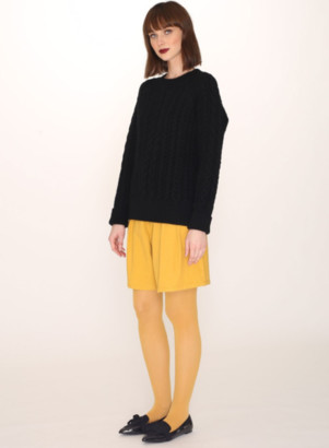 PepaLoves Cables Warm Jumper In Black - S
