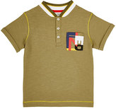 Fendi LOGO POLO SHIRT-GREEN SIZE 5
