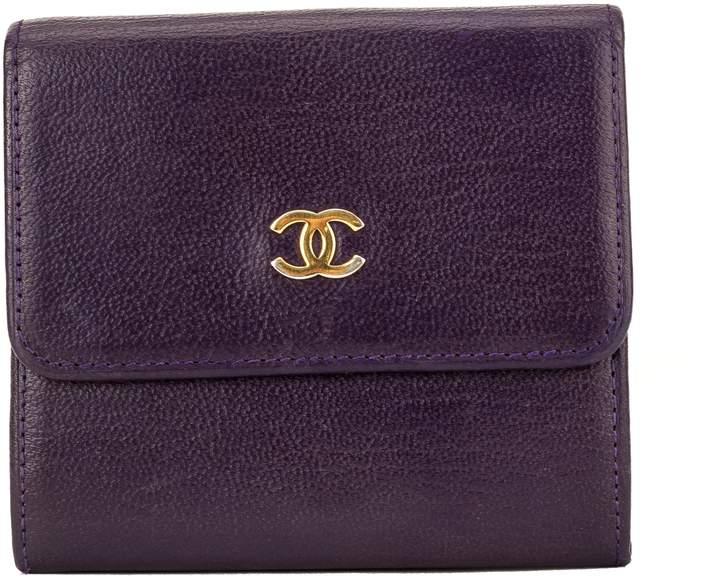 f4d55d23 Purple Calfskin CC Bifold Wallet (3989008)