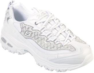 Skechers D'Lites Wedding Bells Trainer - White