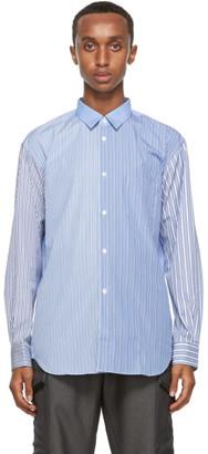 Comme des Garçons Shirt Blue and White Mix Striped Forever Shirt
