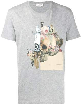 Alexander McQueen panelled skull print T-shirt