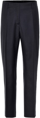 Dries Van Noten Mid-rise wool straight pants