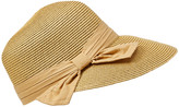 Dnmc DNMC Women's Sunhats Natural - Natural Straw Bow UPF 50+ Visor