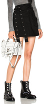 Proenza Schouler Twill Coating Cotton Wrap Skirt in Black.