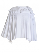 Eudon Choi REUVEN PLEAT TOP in White - Back in stock