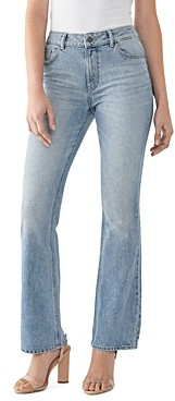 DL1961 Bridget High-Rise Boot-Cut Jeans in Aurora