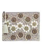Floral Embellished Clutch Bag