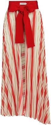 Silvia Tcherassi Blanche Pleated Pareo Skirt