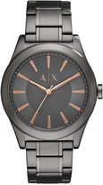 Armani Exchange Men's Gunmetal Stainless Steel Bracelet Watch 44mm AX2330