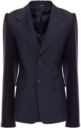 Maison Margiela Paneled Wool And Mohair-blend Felt And Woven Blazer