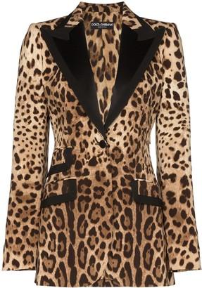 Dolce & Gabbana leopard print tailored blazer